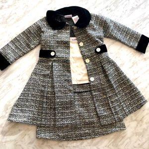 Dress Like Coco Chanel! Girls 2 Piece Dress Set